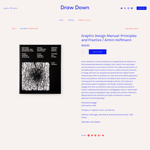 Graphic Design Manual: Principles and Practice / Armin Hoffmann - Draw Down