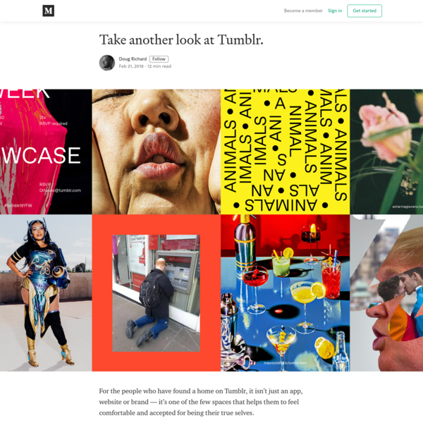 Take another look at Tumblr. - Doug Richard - Medium