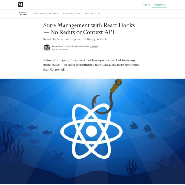 State Management with React Hooks - No Redux or Context API