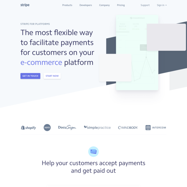 Stripe for platforms   Add payments to your platform