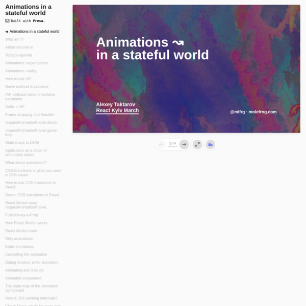 Animations in a stateful world