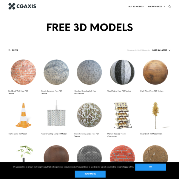 Products Archive - CGAxis Free 3D Models