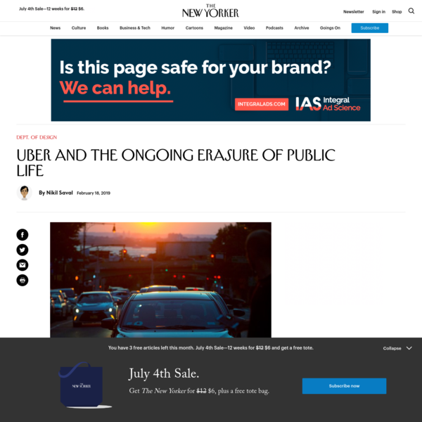 Uber and the Ongoing Erasure of Public Life