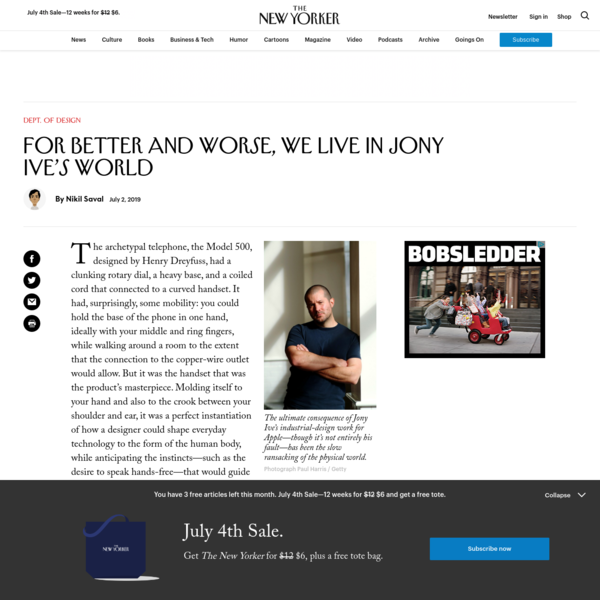 For Better and Worse, We Live in Jony Ive's World | The New Yorker