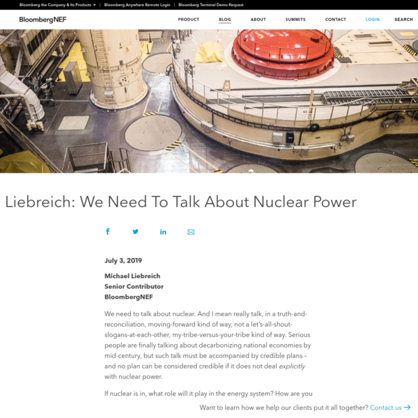 Liebreich: We Need To Talk About Nuclear Power | BloombergNEF