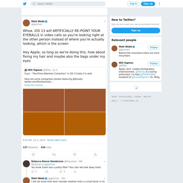 Matt Webb on Twitter