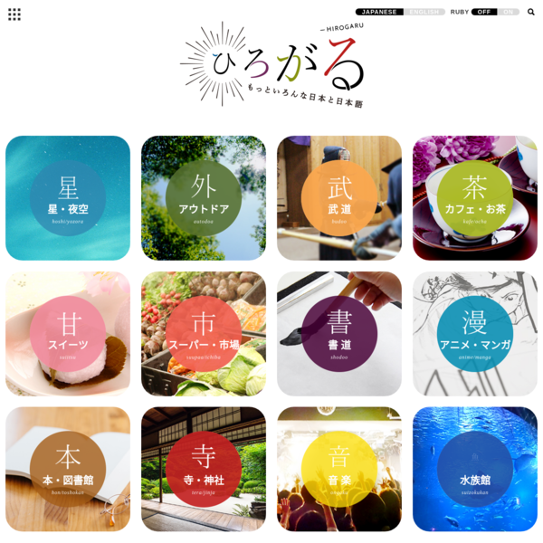 日本語学習ウェブサイト「ひろがる」