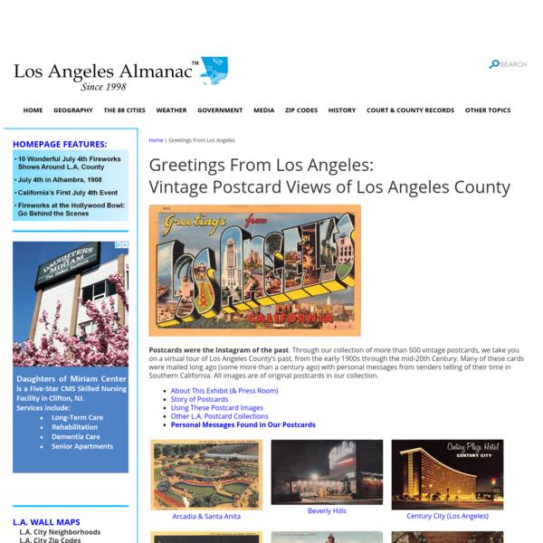 Los Angeles Almanac - Greetings From Los Angeles