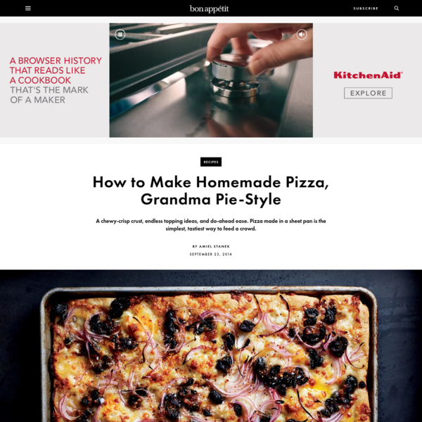 How to Make Homemade Pizza   Bon Appétit