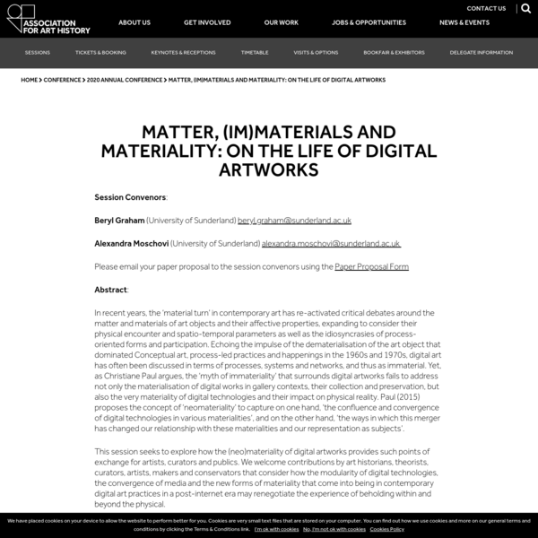 Matter, (Im)materials and Materiality: On the life of digital artworks