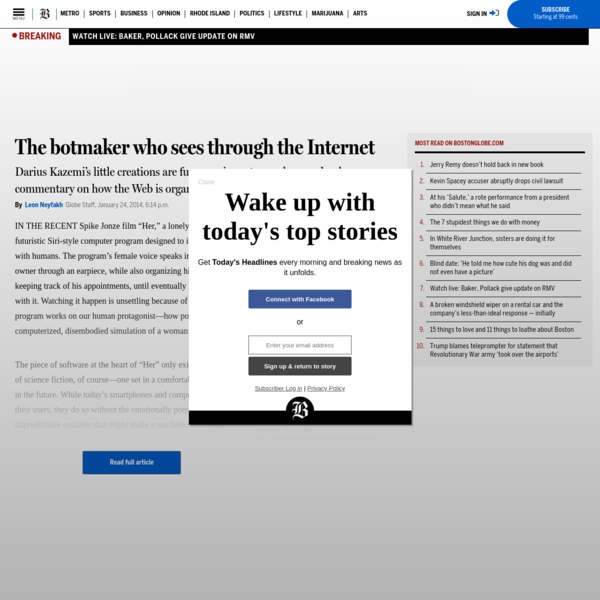 The botmaker who sees through the Internet - The Boston Globe