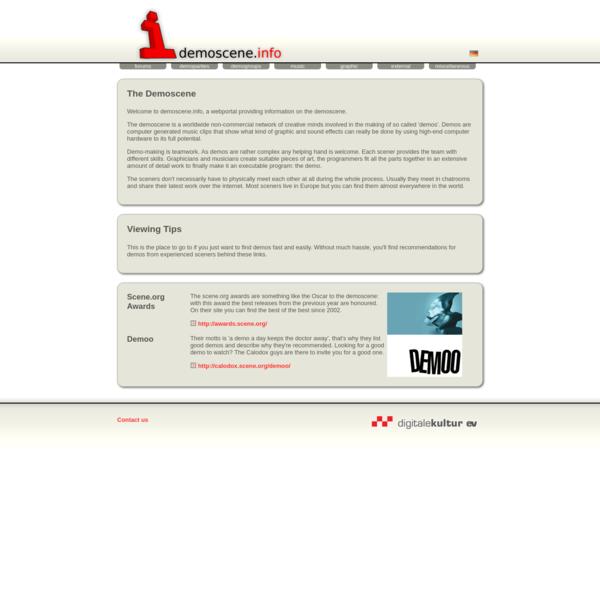 The demoscene - demoscene.info - the portal on the demoscene