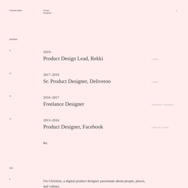 Christine Røde ·· Product Designer