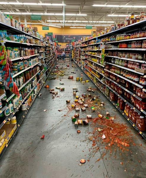 earthquake @walmart