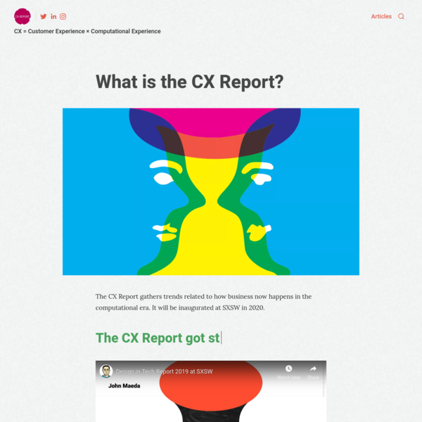 CX Report - CX = Customer Experience × Computational Experience