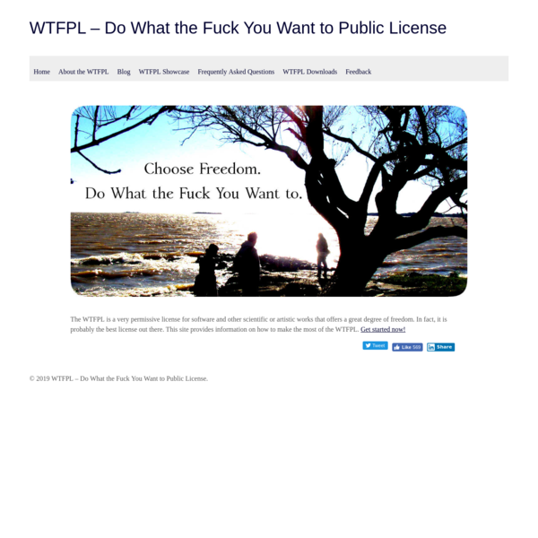 WTFPL - Do What the Fuck You Want to Public License