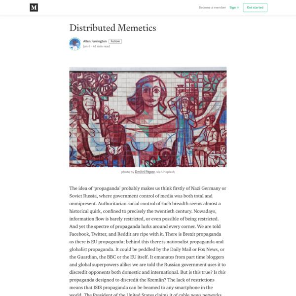 Distributed Memetics - Allen Farrington - Medium