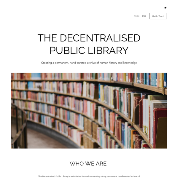 Home | The Decentralised Public Library
