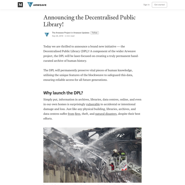 Announcing the Decentralised Public Library! - Arweave Updates - Medium