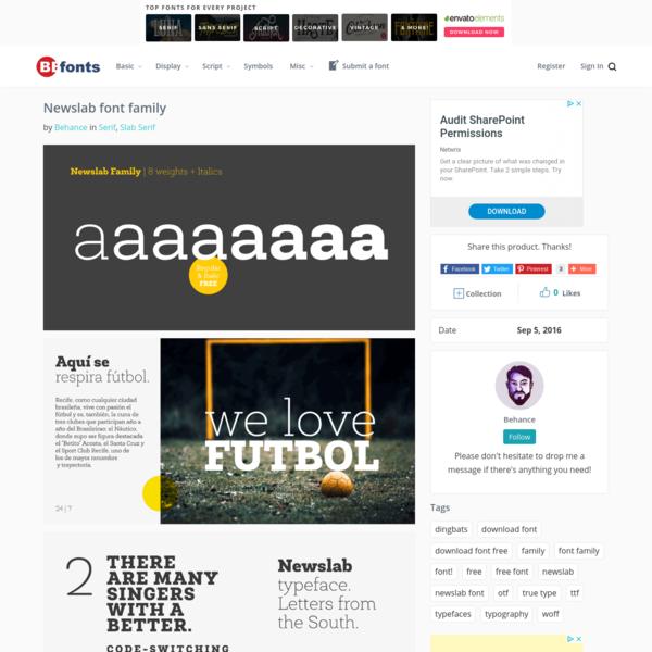 Newslab font family - Befonts.com