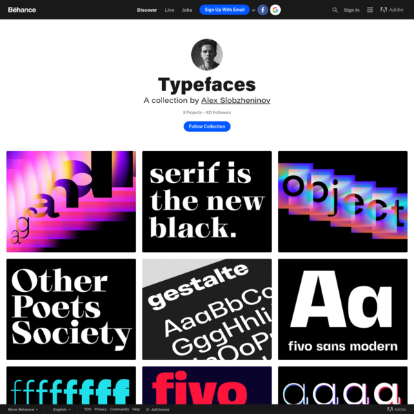 Typefaces on Behance