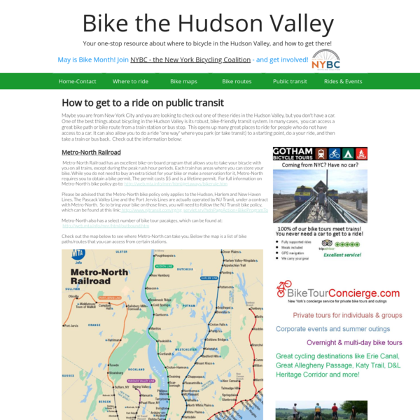 Bikes on Transit in the Hudson Valley