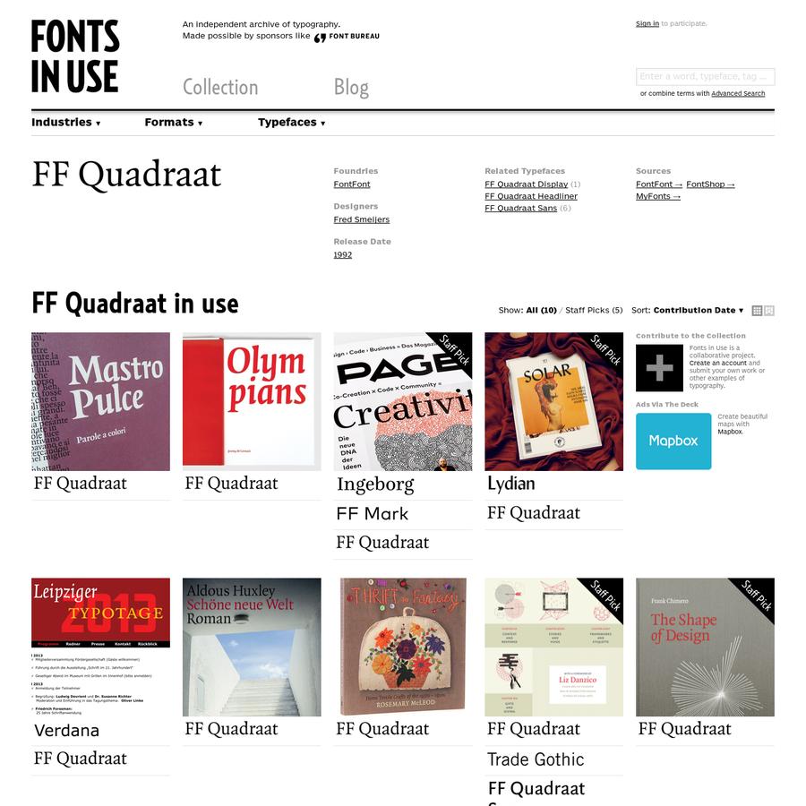 FF Quadraat in use