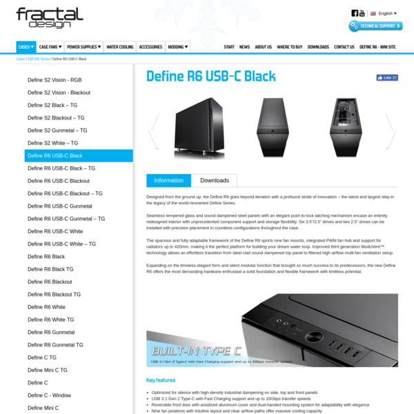 Define R6 USB-C Black