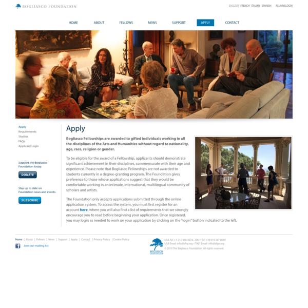 Apply | Bogliasco Foundation