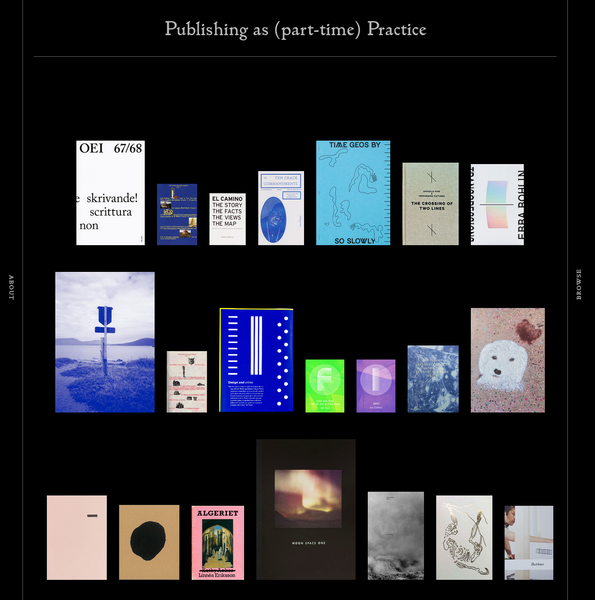 PA(P)P is a growing network of 25 small-scale Nordic publishers in the cultural sector Andperseand, criteria Hardbound books 148.5 mm wide 210 mm tall printed by Göteborgstryckeriet editions of 500 written in English 64 pages designed by Sandberg & Timonen books published in 2014 Bläck charm nostalgi vassa tänder, Blackbook