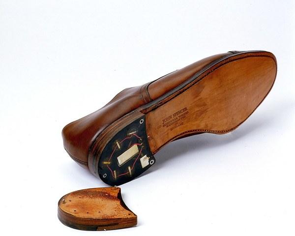 Shoe Surveillance Bug