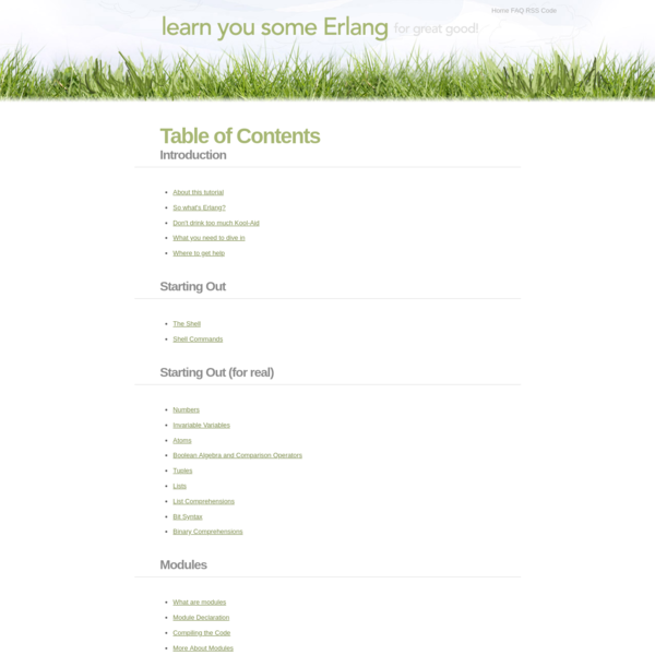 Table of Contents | Learn You Some Erlang for Great Good!