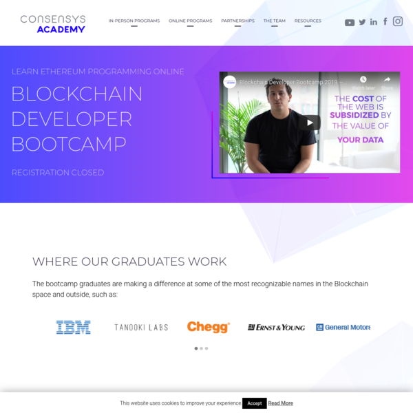 ConsenSys Academy's 2019 #Blockchain Developer Training Course