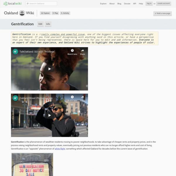 Gentrification - Oakland - LocalWiki
