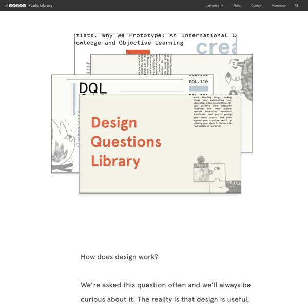 Design Questions Library | d.school public library