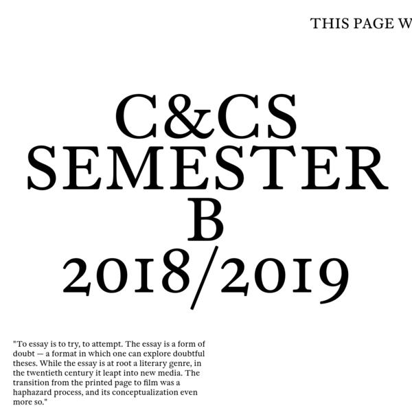 C&CS Semester B