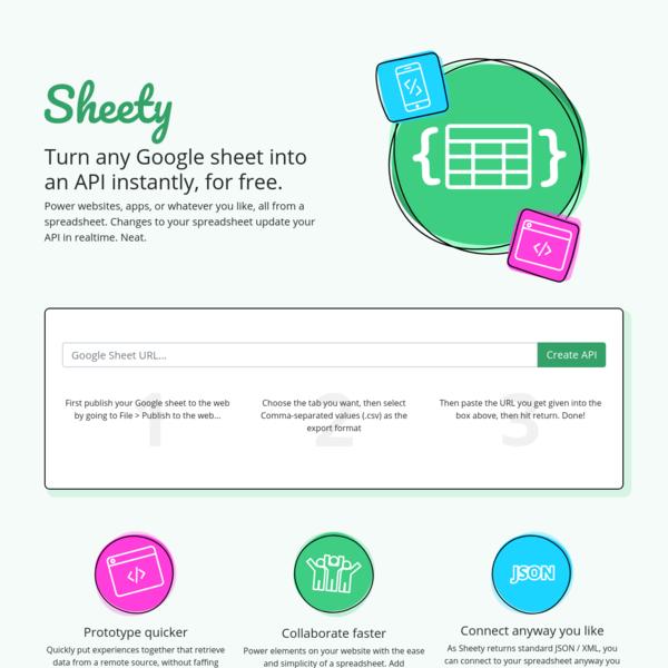 Sheety - Turn your Google Sheet into an API