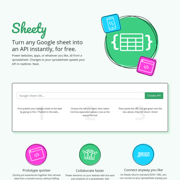Sheety - Turn your Google Sheet into an API