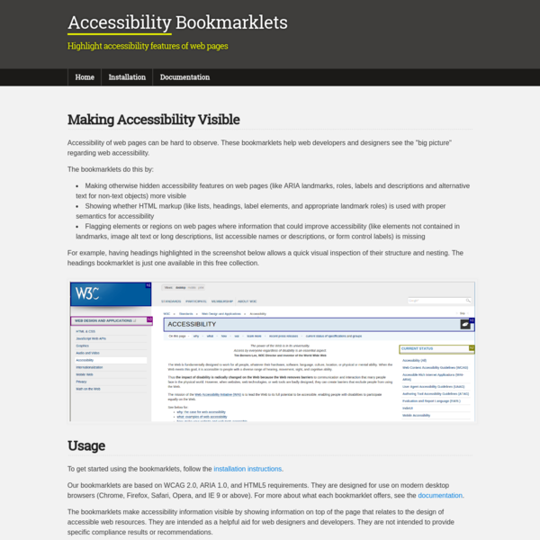 Accessibility Bookmarklets
