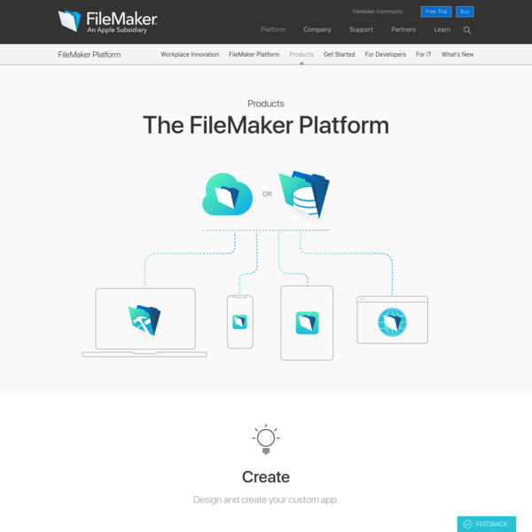 Products overview - FileMaker
