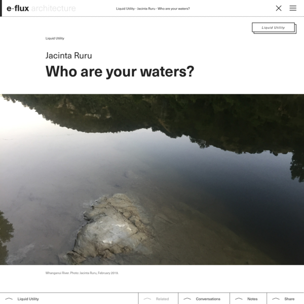 Who are your waters? - e-flux Architecture - e-flux
