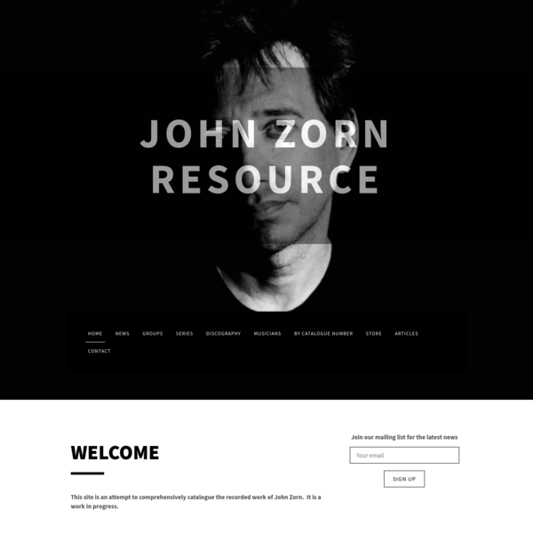 John Zorn Resource