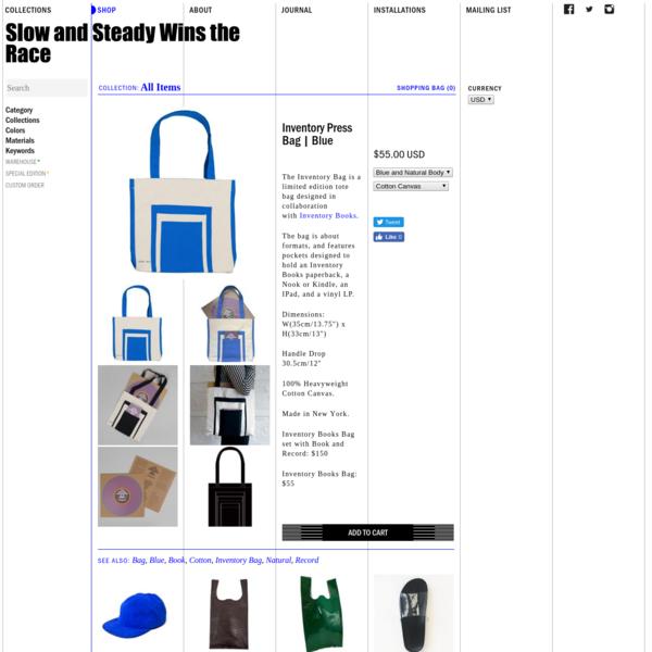 Inventory Press Bag | Blue