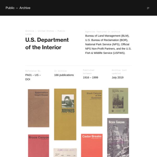 🇺🇸 U.S. Department of the Interior (166 Publications) - Public - Archive
