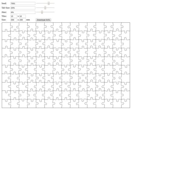 Jigsaw Puzzle SVG Generator