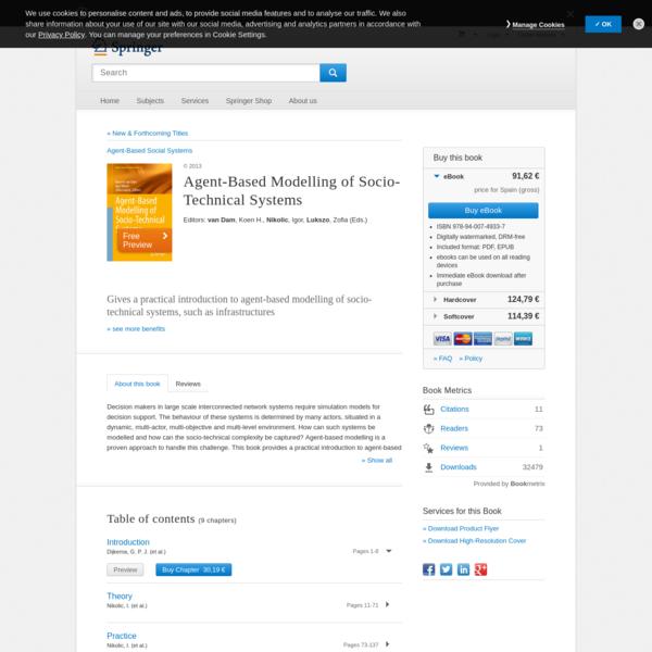 Agent-Based Modelling of Socio-Technical Systems | Koen H. van Dam | Springer