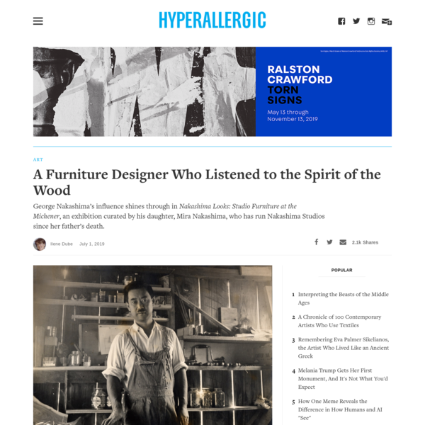 A Furniture Designer Who Listened to the Spirit of the Wood