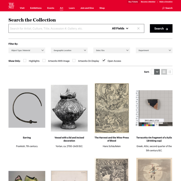 Search the Collection   The Metropolitan Museum of Art