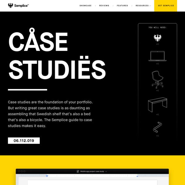 Semplice - How to write case studies for your online portfolio