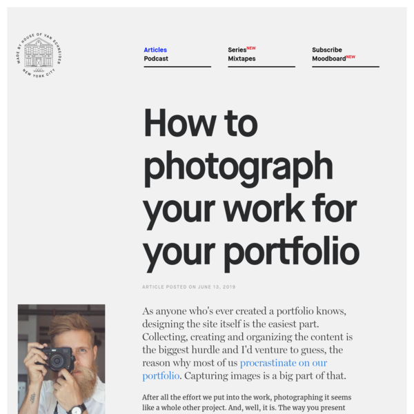 How to photograph your work for your portfolio - DESK Magazine